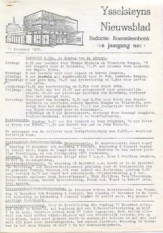 Ysselsteyns Nieuwsblad 1976-12-17