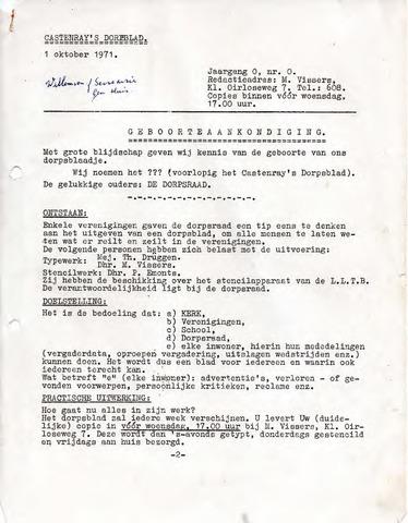 Castenrays dorpsblad De Schans 1971