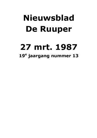 Dorpsblad Leunen-Veulen-Heide 1987-03-27
