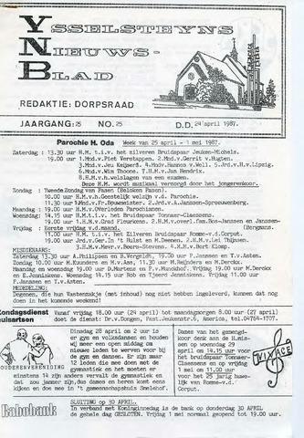 Ysselsteyns Nieuwsblad 1987-04-24
