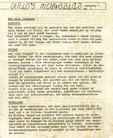 Oirlo's dorpsblad 't Krèntje 1969