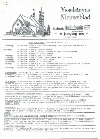 Ysselsteyns Nieuwsblad 1979-06-29