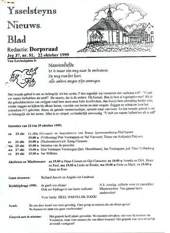 Ysselsteyns Nieuwsblad 1999-10-22