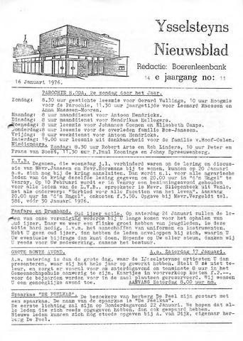 Ysselsteyns Nieuwsblad 1976-01-16