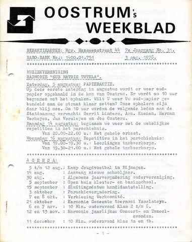 Oostrum's Weekblad 1978-08-03