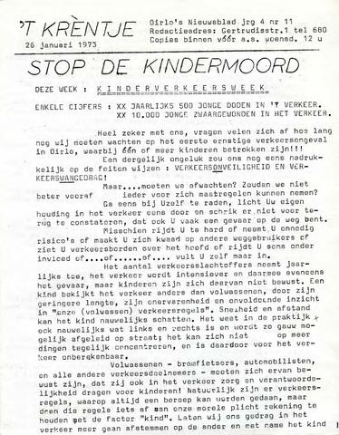 Oirlo's dorpsblad 't Krèntje 1973-01-26