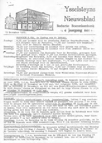 Ysselsteyns Nieuwsblad 1975-12-19