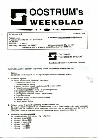 Oostrum's Weekblad 2002-01-10