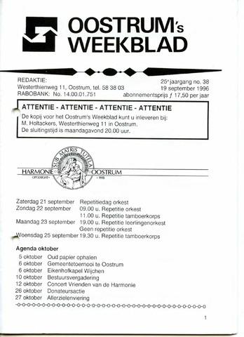 Oostrum's Weekblad 1996-09-19