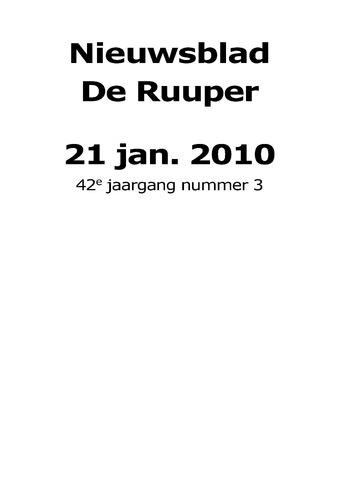 Dorpsblad Leunen-Veulen-Heide 2010-01-21