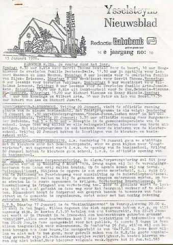 Ysselsteyns Nieuwsblad 1978-01-13