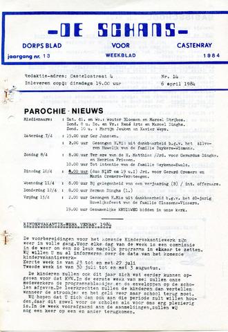 Castenrays dorpsblad De Schans 1984-04-06