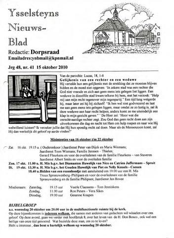 Ysselsteyns Nieuwsblad 2010-10-15