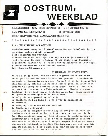 Oostrum's Weekblad 1980-11-20