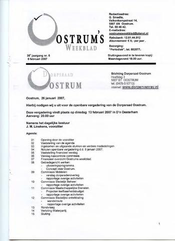 Oostrum's Weekblad 2007-02-08
