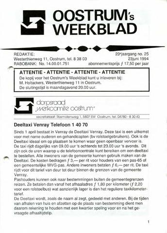 Oostrum's Weekblad 1994-06-23