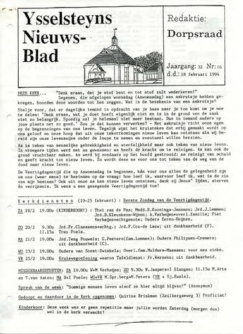 Ysselsteyns Nieuwsblad 1994-02-18