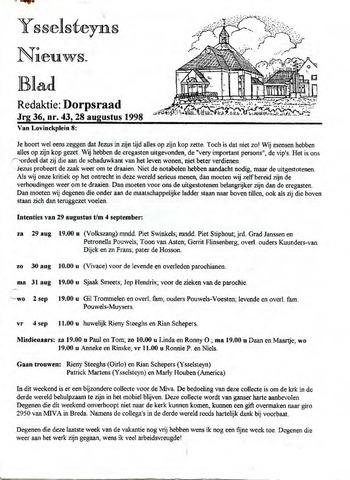Ysselsteyns Nieuwsblad 1998-08-28