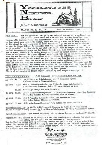 Ysselsteyns Nieuwsblad 1990-02-16