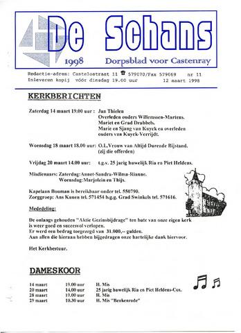 Castenrays dorpsblad De Schans 1998-03-12