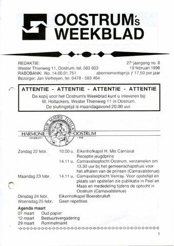 Oostrum's Weekblad 1998-02-19
