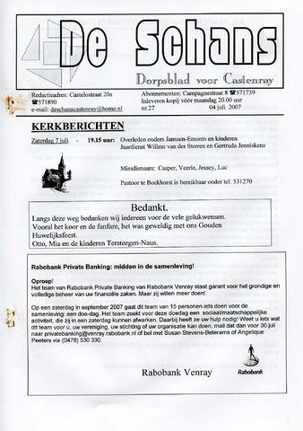 Castenrays dorpsblad De Schans 2007-07-04