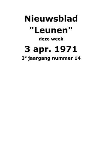 Dorpsblad Leunen-Veulen-Heide 1971-04-03