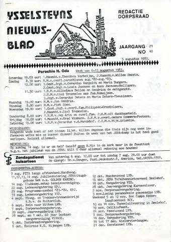 Ysselsteyns Nieuwsblad 1983-08-05