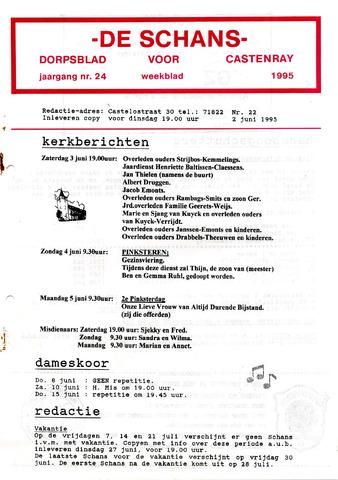 Castenrays dorpsblad De Schans 1995-06-02