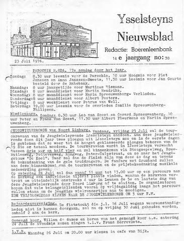 Ysselsteyns Nieuwsblad 1976-07-23