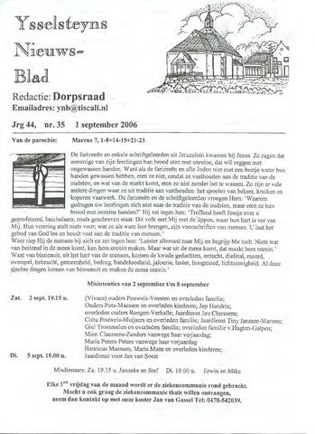 Ysselsteyns Nieuwsblad 2006-09-01
