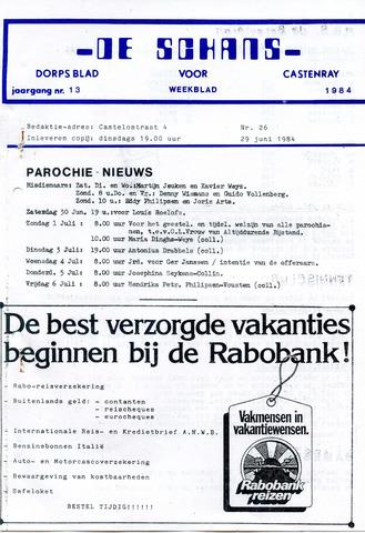 Castenrays dorpsblad De Schans 1984-06-29