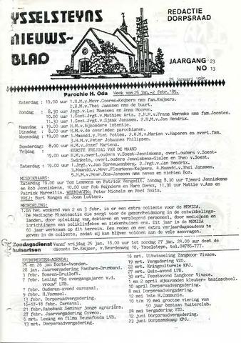 Ysselsteyns Nieuwsblad 1985-01-25