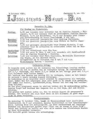 Ysselsteyns Nieuwsblad 1964-10-08