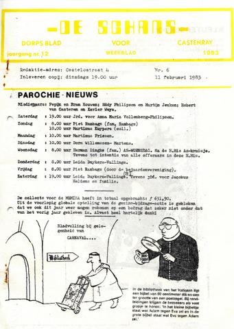 Castenrays dorpsblad De Schans 1983-02-11