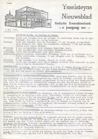 Ysselsteyns Nieuwsblad 1975-05-02