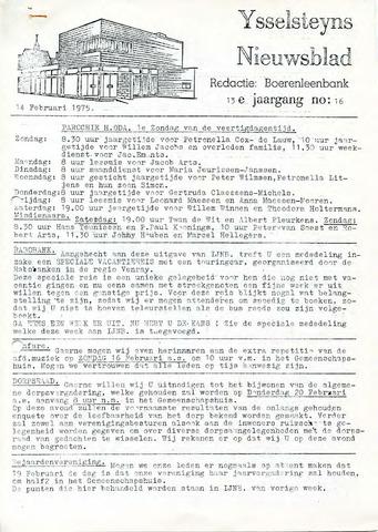 Ysselsteyns Nieuwsblad 1975-02-14
