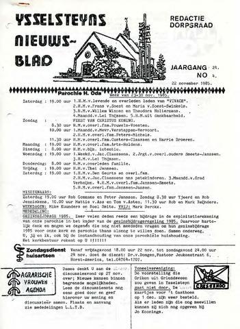 Ysselsteyns Nieuwsblad 1985-11-22