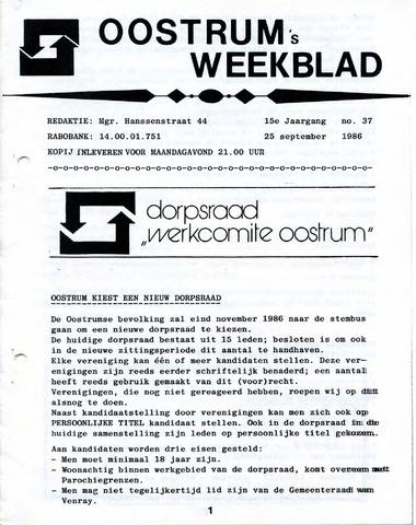 Oostrum's Weekblad 1986-09-25