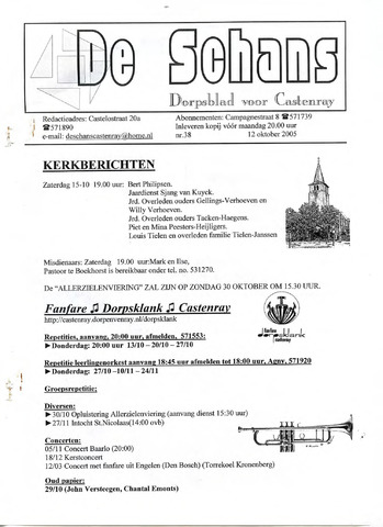 Castenrays dorpsblad De Schans 2005-10-12