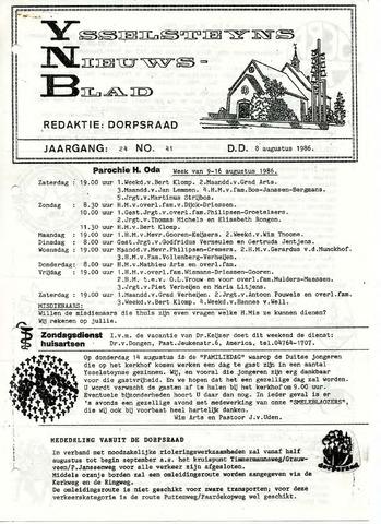 Ysselsteyns Nieuwsblad 1986-08-08