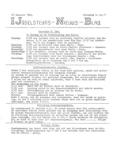 Ysselsteyns Nieuwsblad 1965-01-21