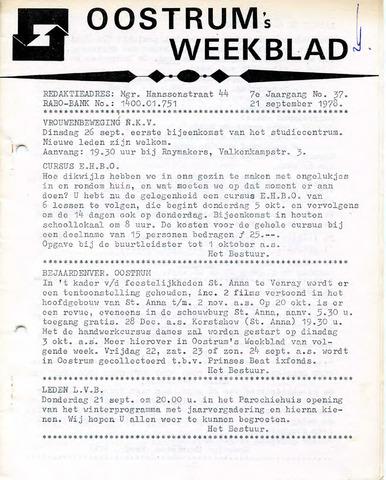 Oostrum's Weekblad 1978-09-21