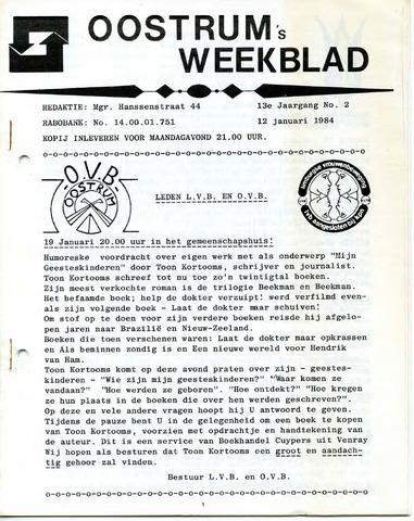 Oostrum's Weekblad 1984-01-12
