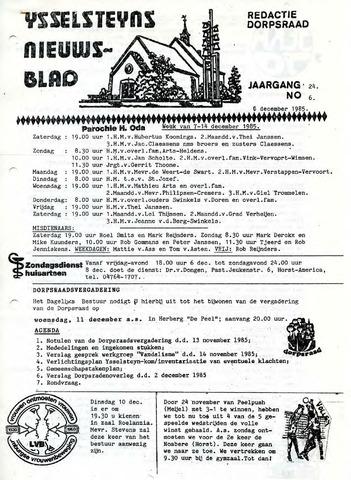 Ysselsteyns Nieuwsblad 1985-12-06