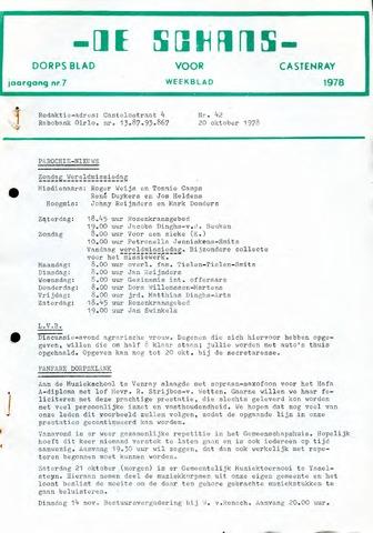 Castenrays dorpsblad De Schans 1978-10-20