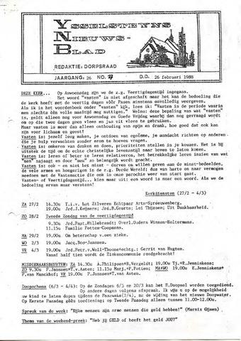 Ysselsteyns Nieuwsblad 1988-02-26