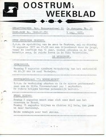 Oostrum's Weekblad 1977-08-04