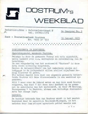 Oostrum's Weekblad 1973-01-19