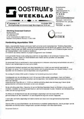 Oostrum's Weekblad 2004-10-14
